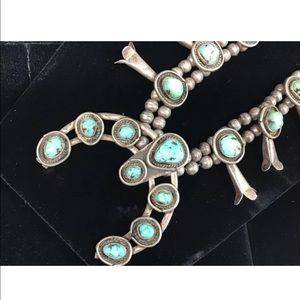 ISO sterling native turquoise squash blossom
